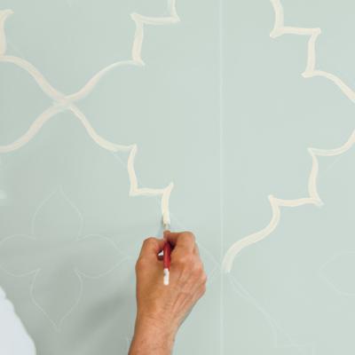 Kreatív falfestés és lakásdekoráció otthonra - saját készítésű lakberendezési ötlet