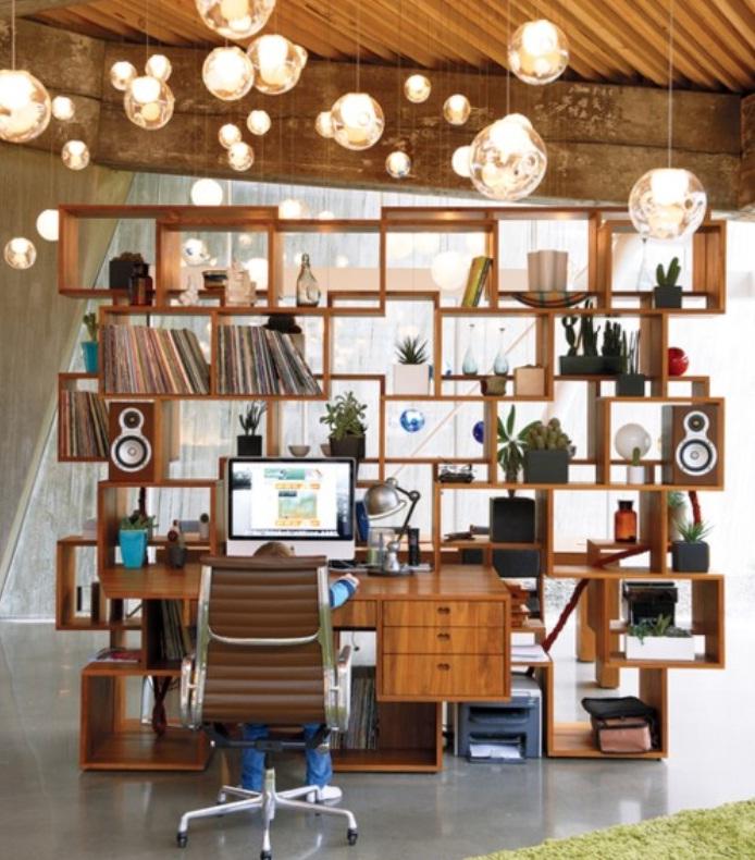 Innovative Bookshelf Designs Home Office Beautiful Round Pendant Lights