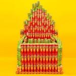 Ötletes újrahasznosítás - konzerv szobrok