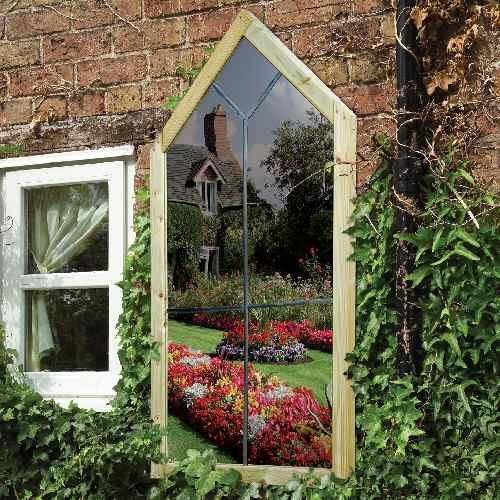 Modern kert díszítés, dekoráció és kertrendezés  - tükör ajtó