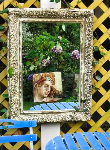 Modern kert díszítés, dekoráció és kertrendezés  tűkör
