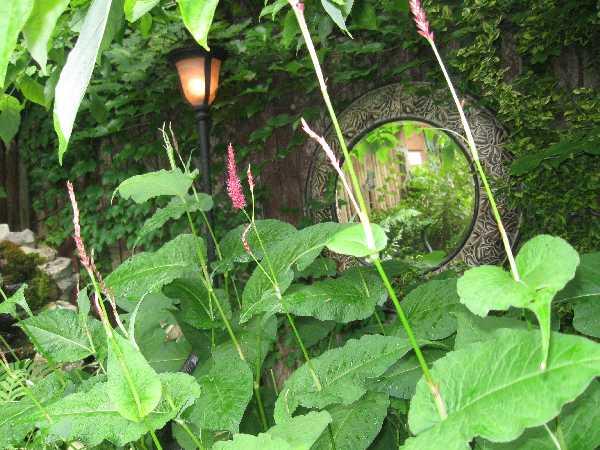 Modern kert díszítés, dekoráció és kertrendezés  - tükör a kertben