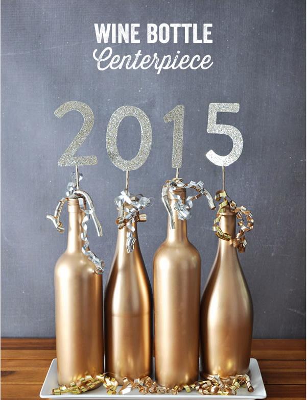 újévi dekoráció házilag - évszám