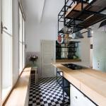 Art Deco lakás konyhai függesztett tároló
