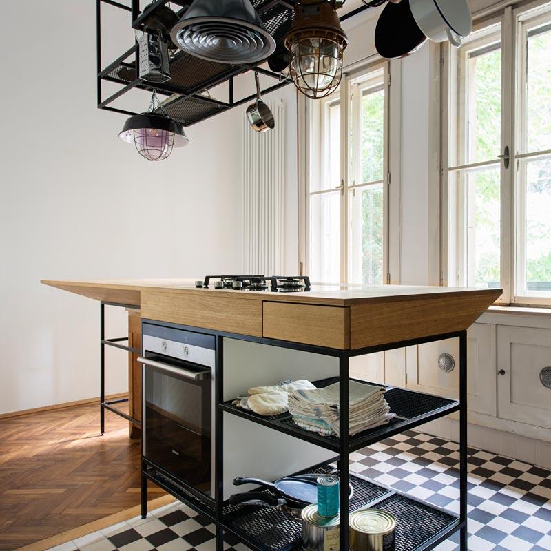 Art Deco lakás konyhai főző pult