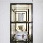 Art Deco lakás konyhai tároló szekrény