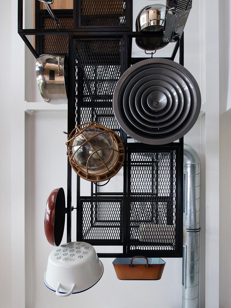 Art Deco lakás konyhai tároló