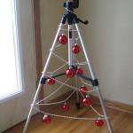 Karácsonyi dekoráció álványból