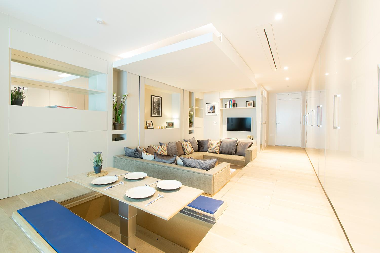 Kis lakás nappali és étkező