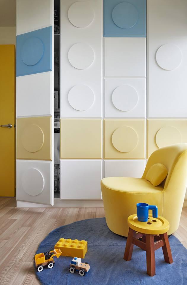 Minialista lakás beépített szekrény