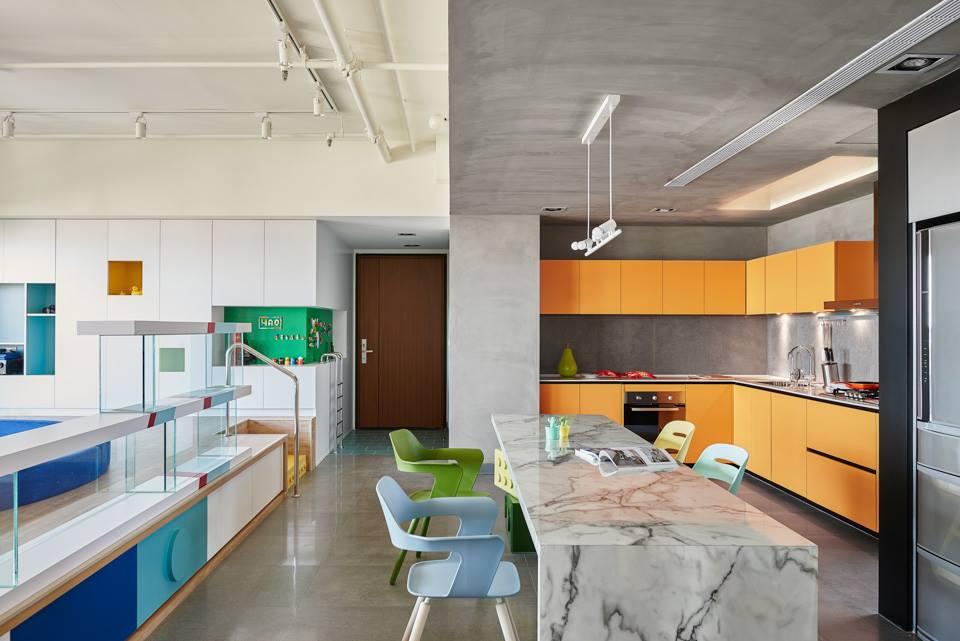 minimalista lakás konyha