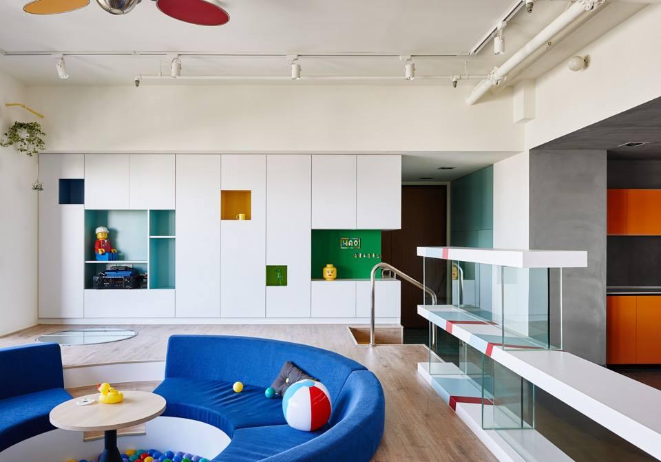 minimalista lakás nappali