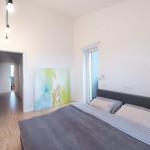 Loft lakás hálószoba