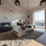 Loft lakás a tetőtérben - 95 négyzetméter 3 szoba és egy 4 tagú család