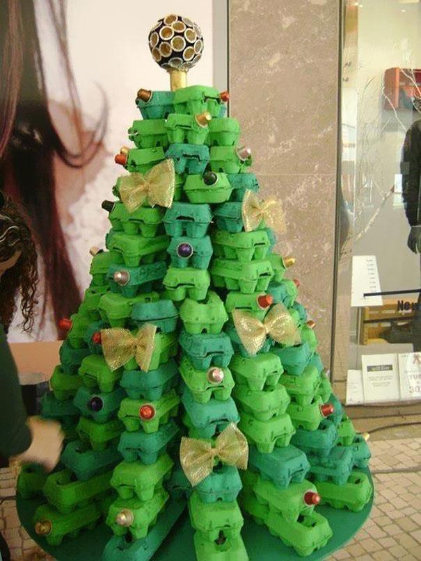 Tojásos doboz karácsonyfa