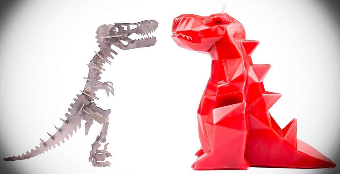 Dinoszarusz Rex csontváz gyertya