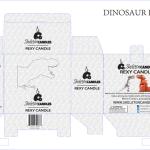 Dinoszaurusz Rex csontváz gyertya