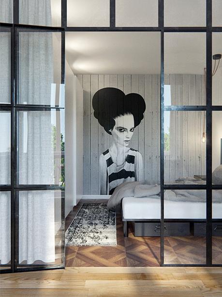 Legény lakás háló szoba