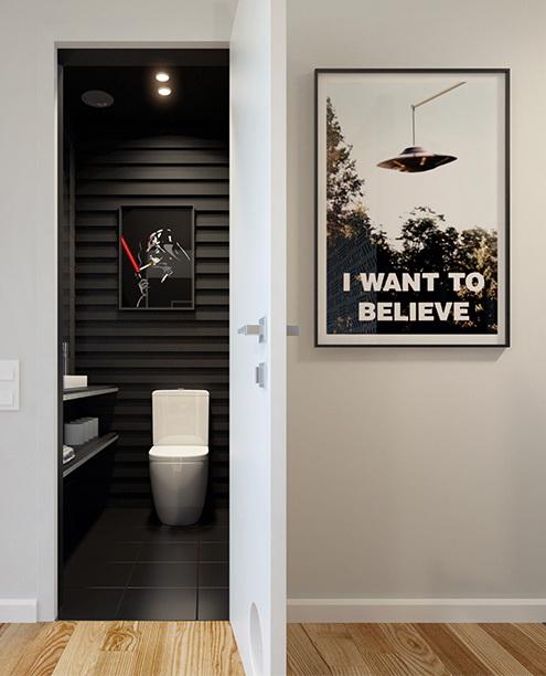 Legény lakás mosdó