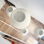 családi lakás több stílusban - átrium lépcső