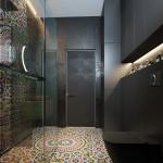 családi lakás több stílusban - dizájn fürdőszoba