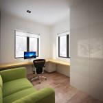 családi lakás több stílusban - dolgozó szoba