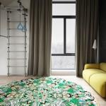 családi lakás több stílusban - gyerek szoba