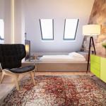 családi lakás több stílusban - hálószoba