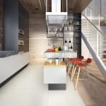 családi lakás több stílusban - konyha étkező