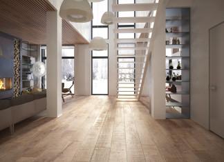 családi lakás több stílusban - nappali lépcső