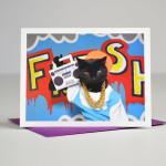 macska képeslap
