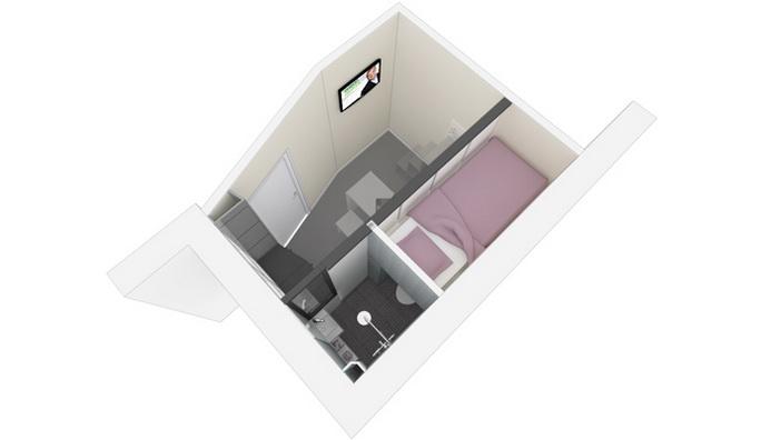 mini stúdió lakás alaprajz 2