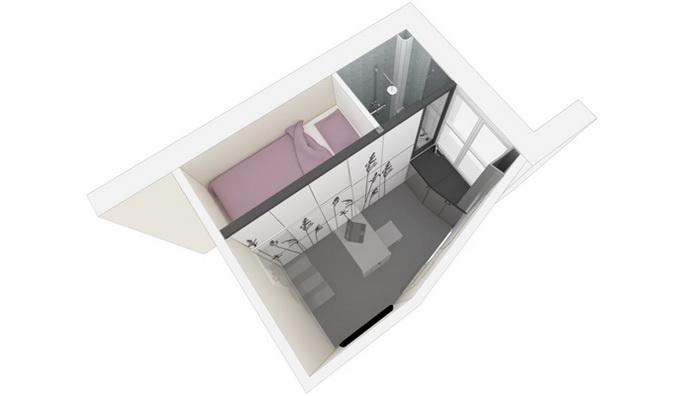 mini stúdió lakás alaprjaz