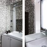 mini stúdió lakás fürdő