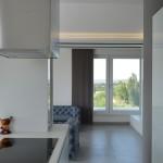 penthouse lakás konyha és nappali
