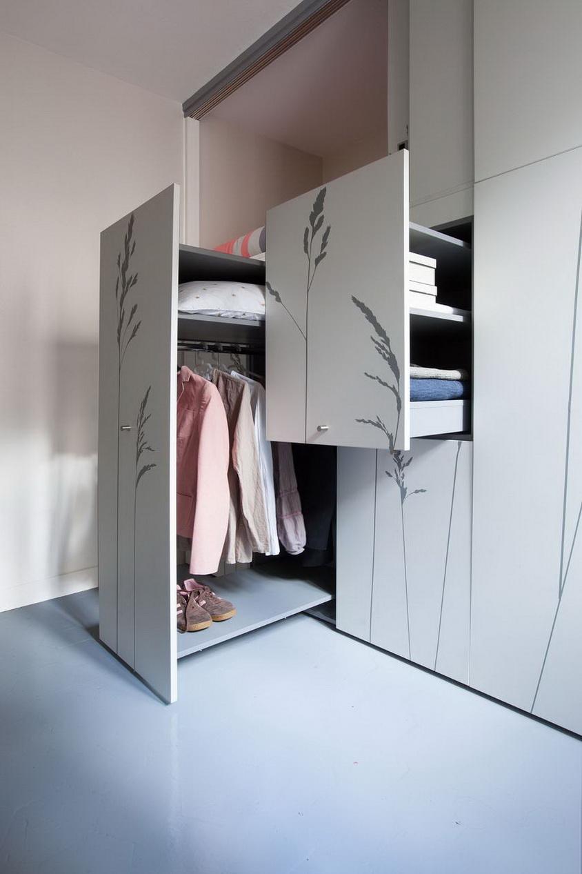 stúdió lakás beépített szekrény