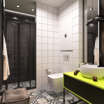 mini lakás neon színnekkel - fürdőszoba