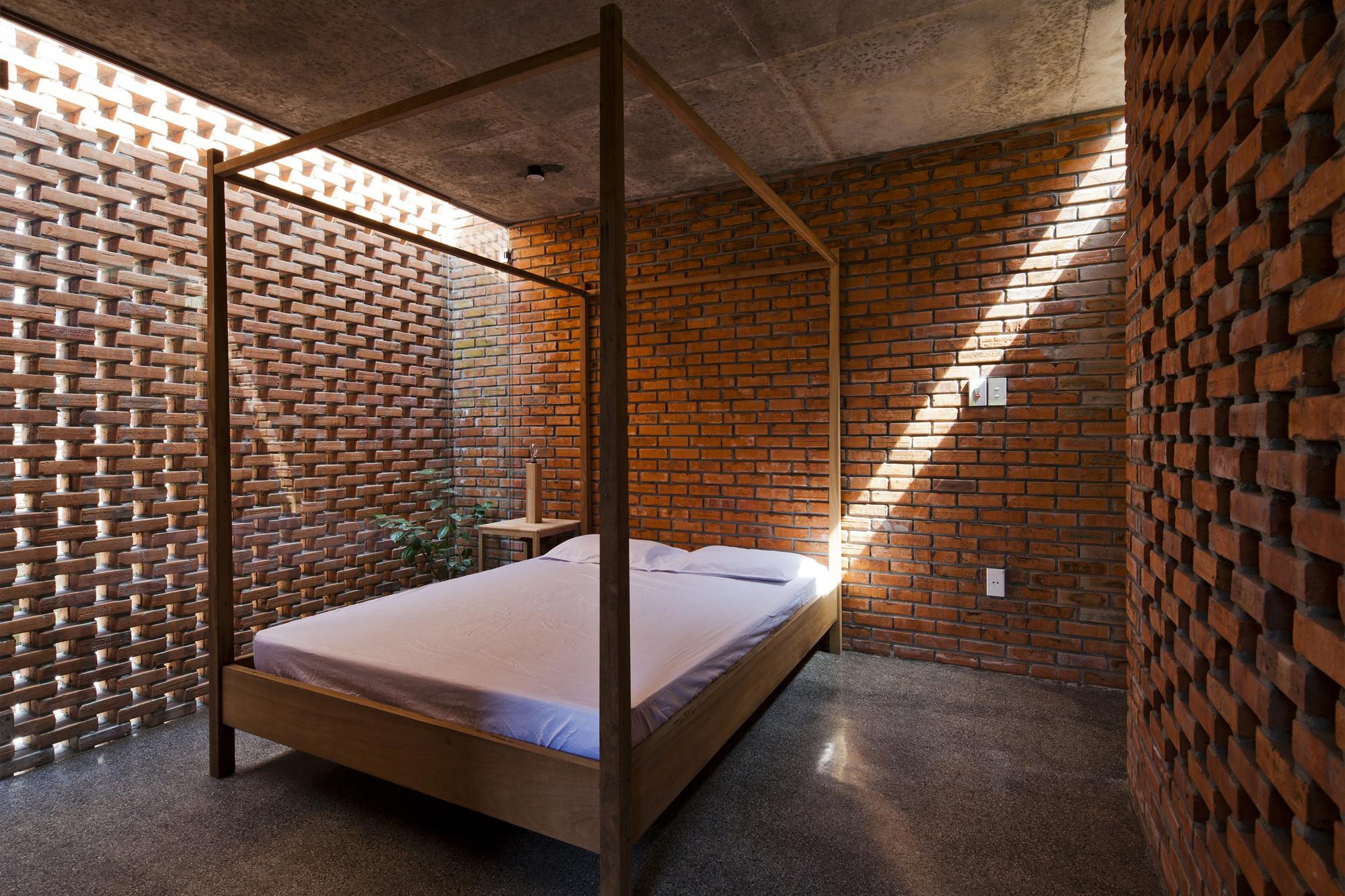 tégla ház hálószoba