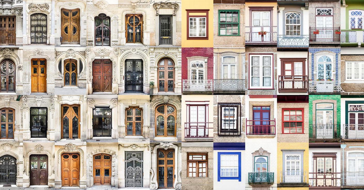 bejárati ajtó és ablak válogatás a világ városaiból - montázsok