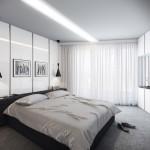 fehér modern hálószoba inspiráció