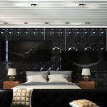 fekete modern hálószoba inspiráció és ötlet