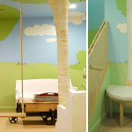 gyerekszoba bútor gyerekszoba falfestés és egyéb dekoráció, lakberendezési ötlet - erdő