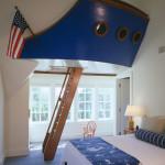 gyerekszoba bútor gyerekszoba falfestés és egyéb dekoráció, lakberendezési ötlet - hajókapitány