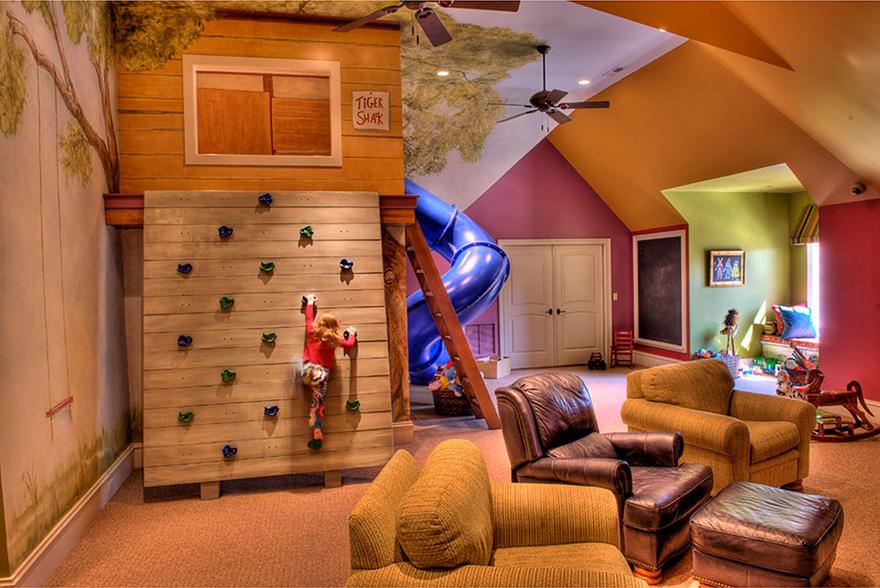 gyerekszoba bútor gyerekszoba falfestés és egyéb dekoráció, lakberendezési ötlet - mászófal