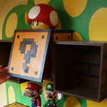 gyerekszoba bútor gyerekszoba falfestés és egyéb dekoráció, lakberendezési ötlet - super mari bútorok polcok falfestés