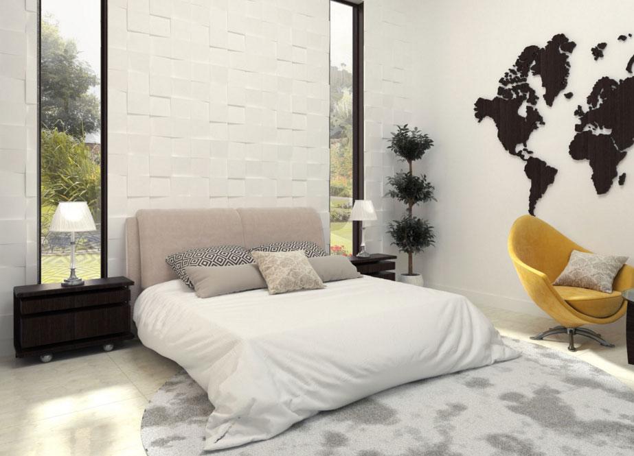 hálószoba fal ablakokkal