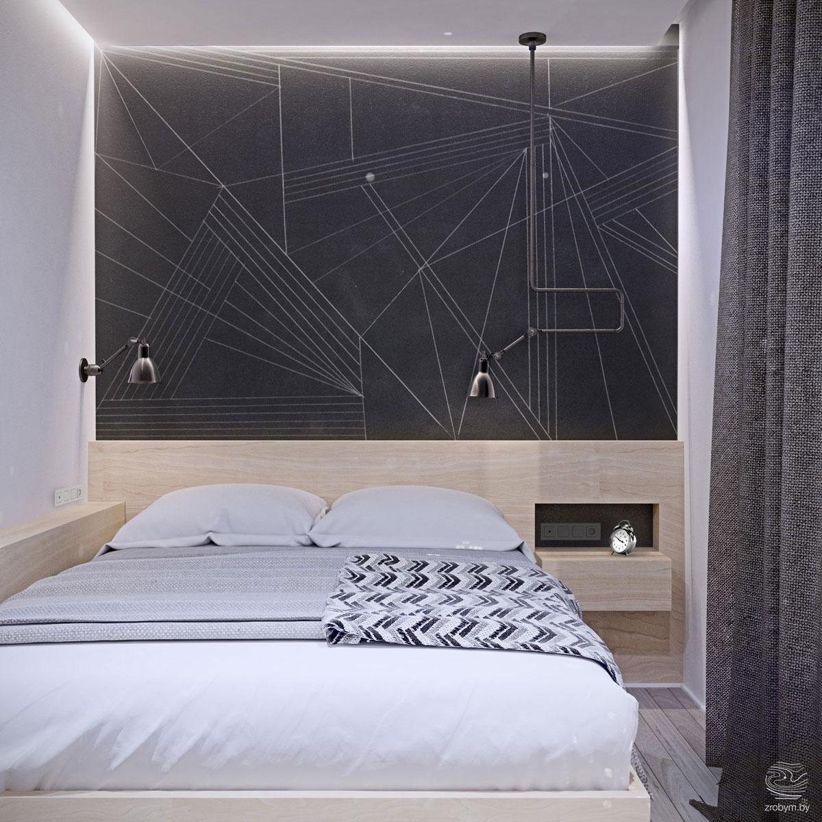 hálószoba fal inspiráció és ötletek - fekete