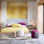 hálószoba fal inspiráció és ötletek sárga fehér