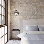 hálószoba fal kővel