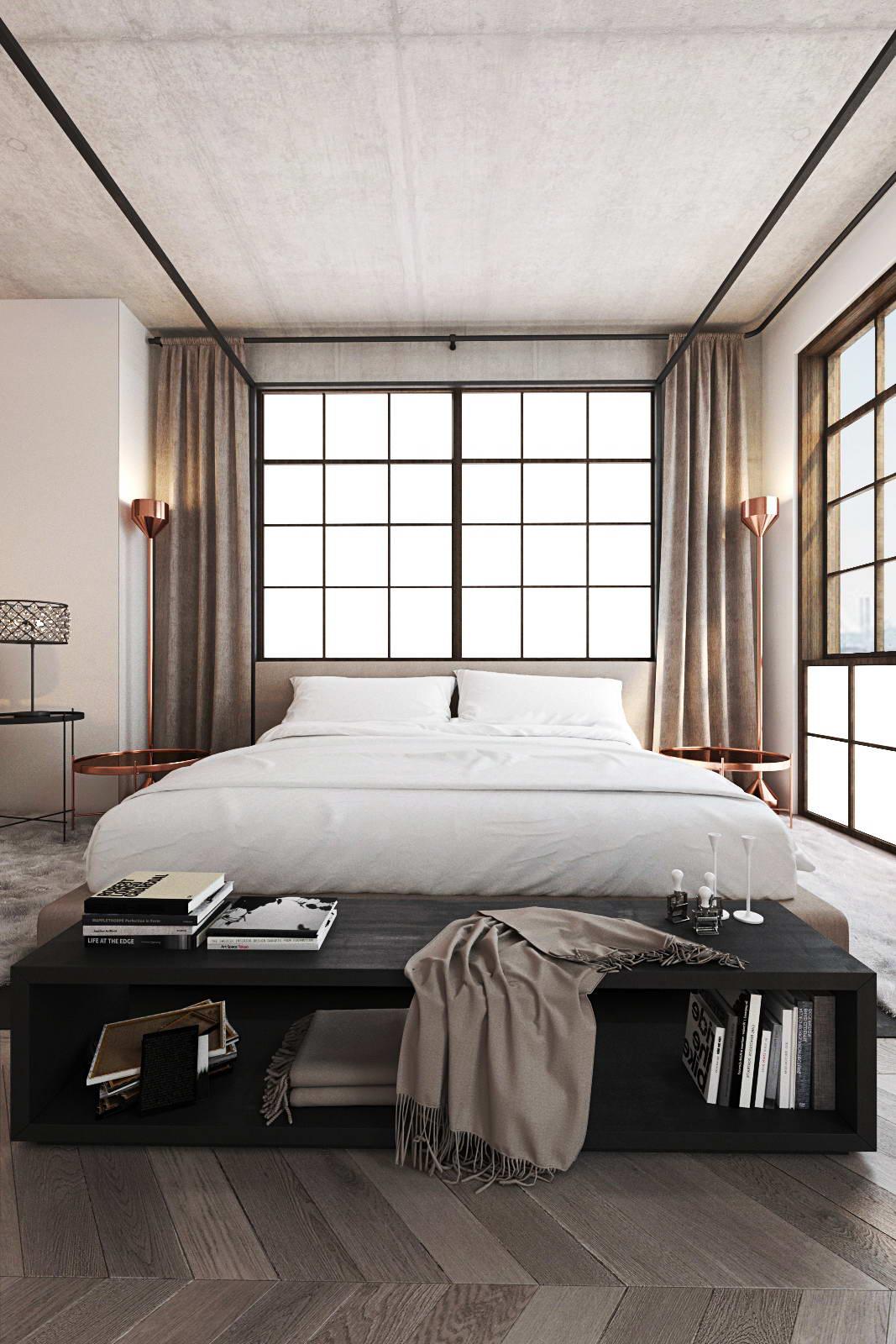 hálószoba fal mesterséges ablakkal
